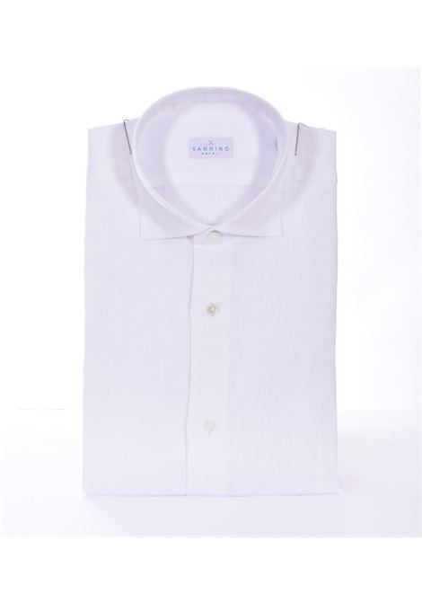 Camicia Sannino lino bianco SANNINO | Camicie | B865607