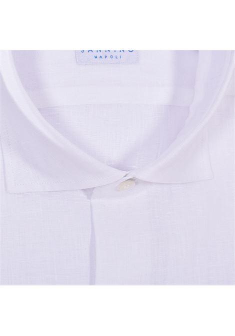 Camicia Sannino lino bianco SANNINO | B865607