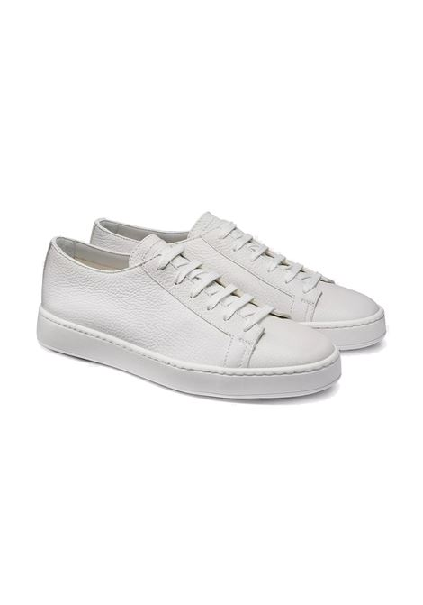 Sneakers shoes white leather SANTONI | Shoes | MBCN14387BARCMIA48