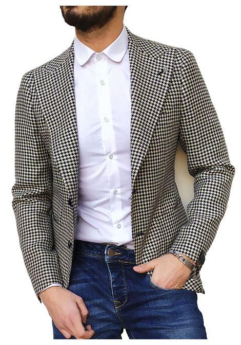 Tagliatore Pino Lerario blazer linen pied de poule TAGLIATORE | Blazers | 34FEG202/G-PLN1367