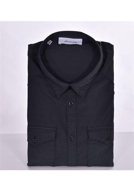 Aglini mario arkansas black shirt AGLINI | Shirts | F1071101