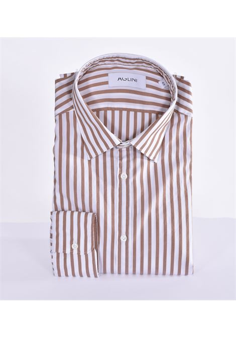 Aglini mario regular brown shirt AGLINI | Shirts | F829.1201