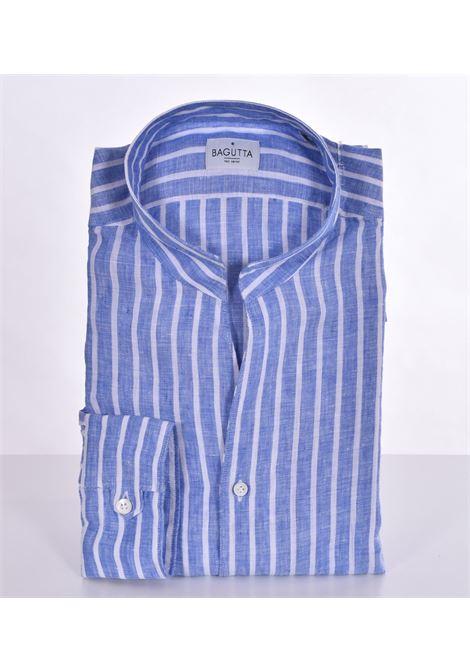 Camicia Bagutta lino corea bruxelles blu BAGUTTA | Camicie | 00045250