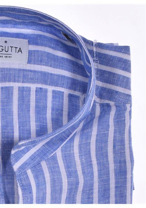 Camicia Bagutta lino corea bruxelles blu BAGUTTA   00045250
