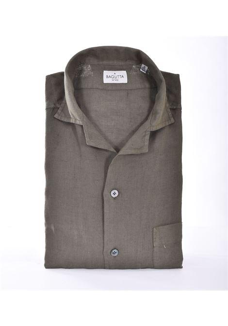 Bagutta shirt half sleeve linen green maui BAGUTTA | Shirts | 11028062