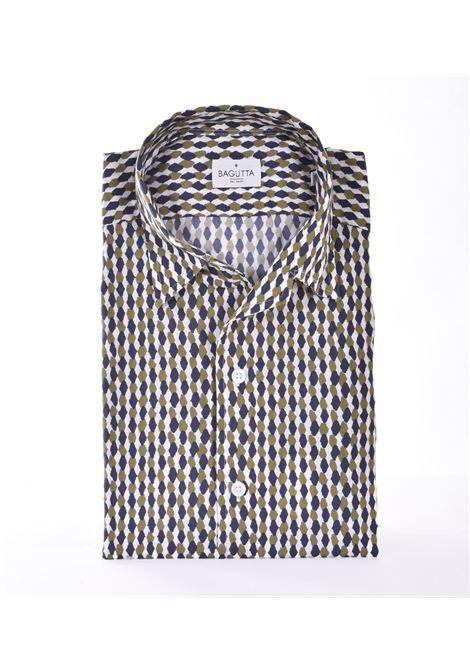 Bagutta shirt with blue green pattern BAGUTTA | Shirts | 11180663
