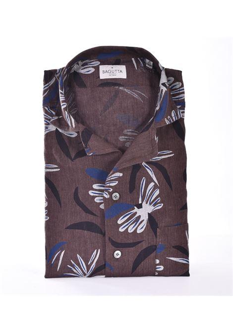 Bagutta shirt half sleeve linen maui flowers BAGUTTA | Shirts | 11183670