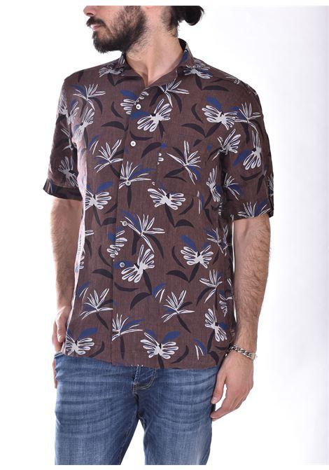 Camicia Bagutta mezza manica lino fiori maui BAGUTTA | Camicie | 11183670