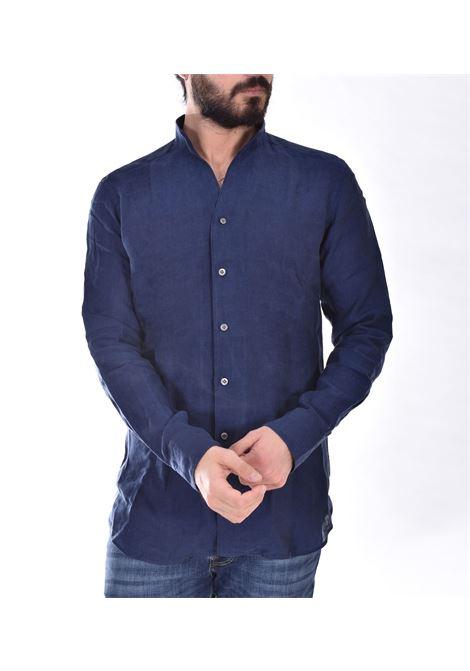Bagutta bruxelles linen blue shirt BAGUTTA | Shirts | CN0045.055