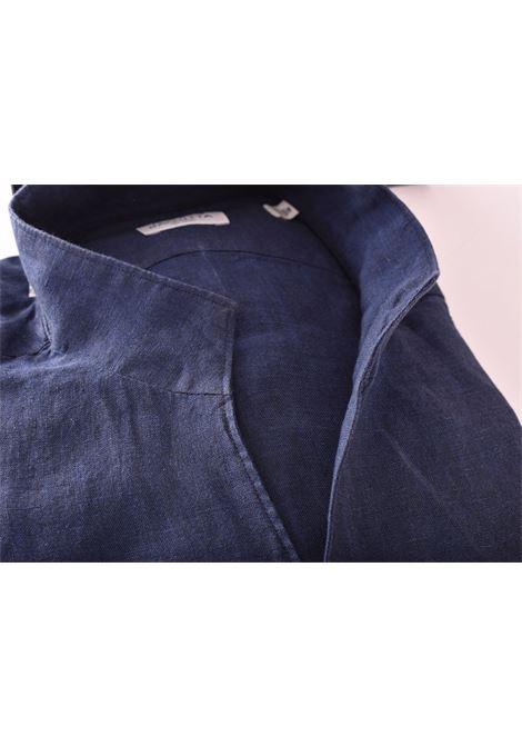 Camicia Bagutta bruxelles lino blu BAGUTTA   CN0045.055