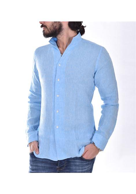 Bagutta bruxelles linen light blue shirt BAGUTTA | Shirts | CN0045.056