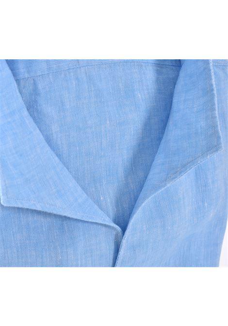 Camicia Bagutta bruxelles lino azzurra BAGUTTA   CN0045.056