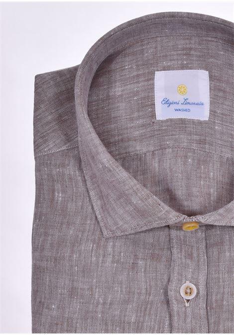 Camicia Barbati limonaia washed lino beige BARBATI | 01473