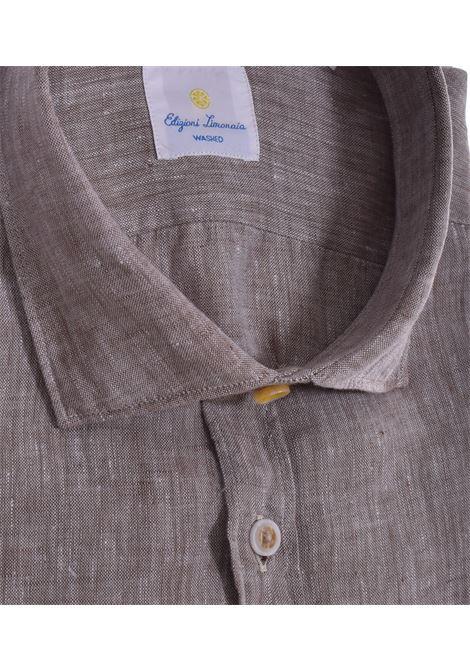 Barbati limonaia washed beige linen shirt BARBATI   Shirts   01473