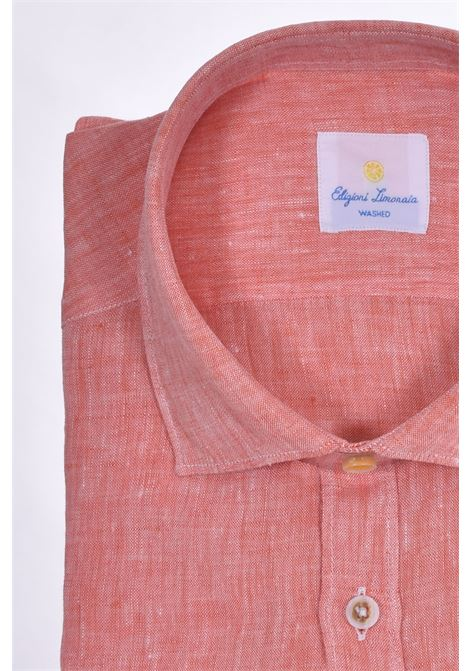 Barbati limonaia washed orange linen shirt BARBATI | Shirts | 01475
