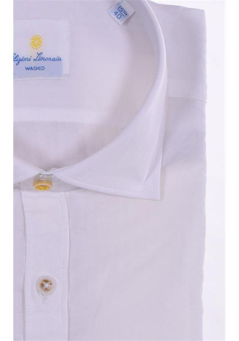 camicia Barbati limonaia wash bianco BARBATI | 01585