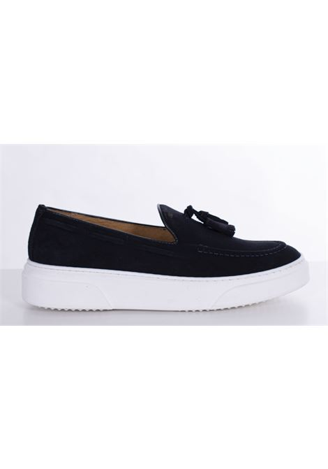 Barbati moccasin in blue suede BARBATI | Shoes | 03211