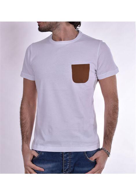 Barbati white pocket t-shirt BARBATI | T-shirts | 121026001