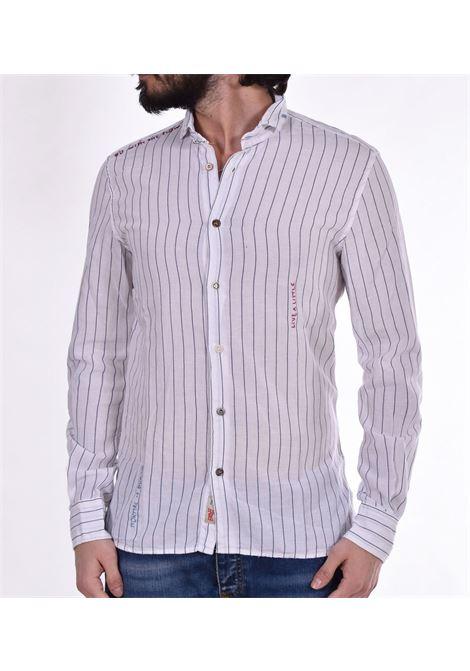 BoB white blue lop shirt BOB | Shirts | LOP01