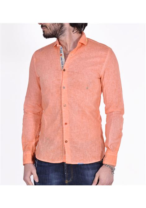 Bob orange linen shirt lop BOB | Shirts | LOP45001