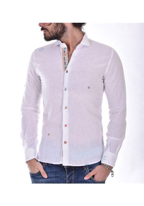 Camicia BoB lino bianco lop BOB | LOP45010