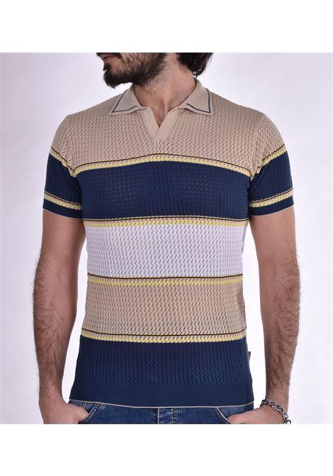 Polo BoB jersey Mason beige blue BOB | polo | MASON44