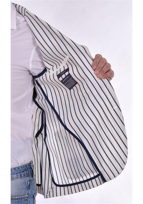 Circolo 1901 blue white pinstripe blazer CIRCOLO 1901   Blazers   CN3098000M