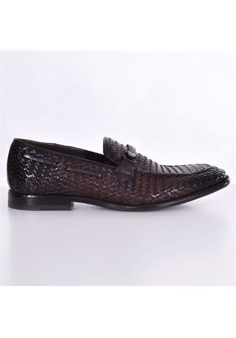 Claudio Marini moccasin in dark brown braided leather CLAUDIO MARINI | Shoes | 81781