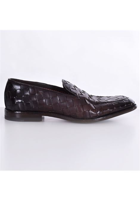 Claudio Marini moccasins in dark brown braid CLAUDIO MARINI | Shoes | 82561