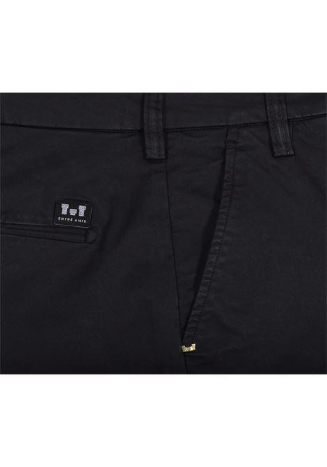 Pantalone Entre amis corto nero ENTRE AMIS | Pantaloni | 8188238L172000