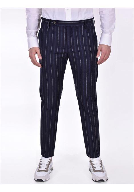 Entre Amis blue pinstripe trousers ENTRE AMIS | Trousers | P218345209101