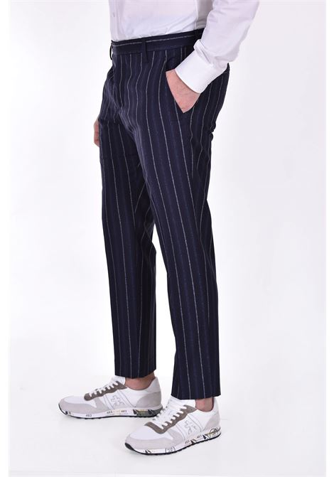 Pantalone Entre Amis gessato blu ENTRE AMIS | P218345209101