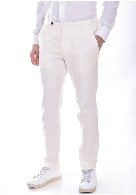 Pantalone Entre Amis cinturino bianco burro ENTRE AMIS | Pantaloni | P218358206701