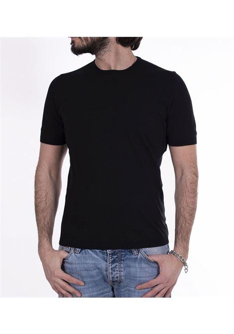 Gran Sasso fresh cotton black t-shirt GRAN SASSO | T-shirts | 4315420731099