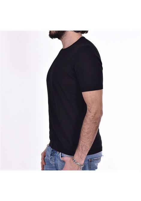 T-shirt Gran Sasso fresh cotton nera GRAN SASSO | 4315420731099