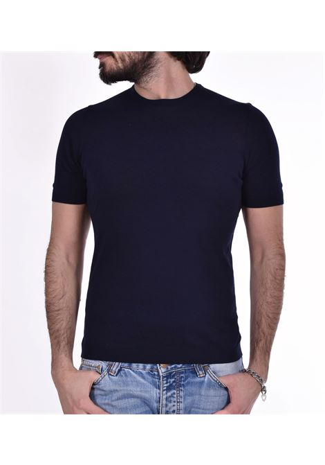 Gran Sasso fresh cotton midnight blue t-shirt GRAN SASSO | T-shirts | 4315420731598