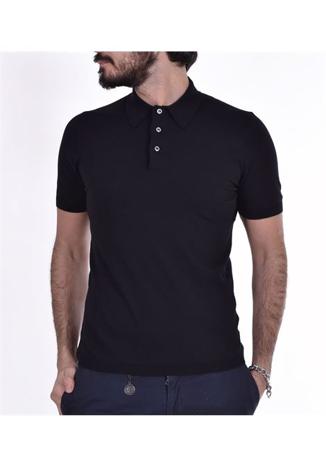 Fresh cotton Gran Sasso Basic black polo shirt GRAN SASSO | polo | 4315620731099