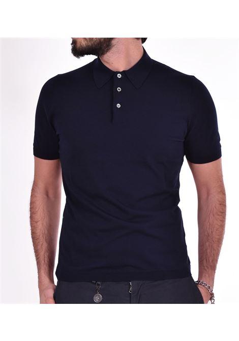 Fresh cotton Gran Sasso Basic blue polo shirt GRAN SASSO | polo | 4315620731598