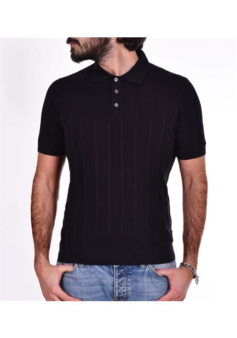 Polo Gran Sasso seta nero GRAN SASSO | Polo | 4318523511099