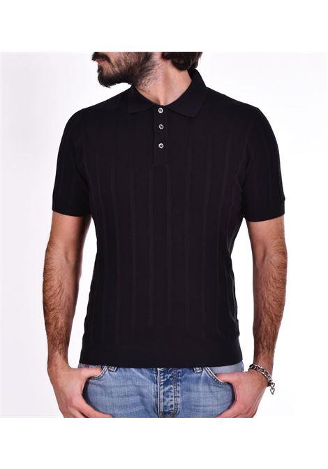 Gran Sasso black silk polo shirt GRAN SASSO |  | 4318523511099