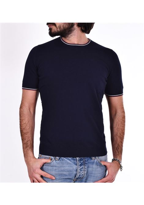 T-shirt Gran Sasso fresh cotton blu paricollo GRAN SASSO | T-shirt | 5713620688598