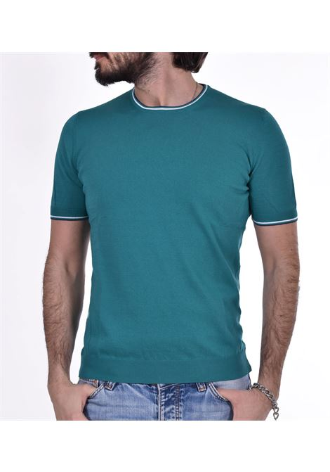 Gran Sasso fresh cotton emerald t-shirt GRAN SASSO | T-shirts | 5713620688650