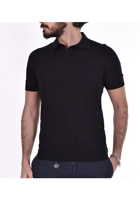 Polo Gran Sasso fresh cotton tennis nera GRAN SASSO | Polo | 5719120660099