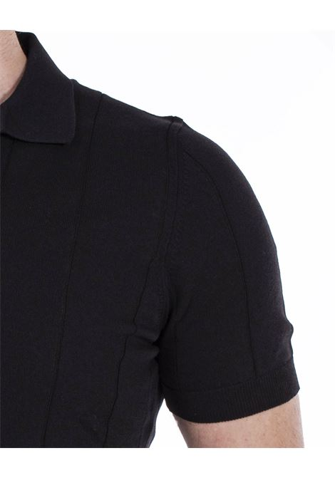 Gran Sasso fresh cotton tennis black polo shirt GRAN SASSO | polo | 5719120660099
