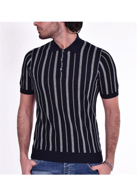 Polo Gran Sasso fresh cotton blue stripe GRAN SASSO |  | 5917220664598