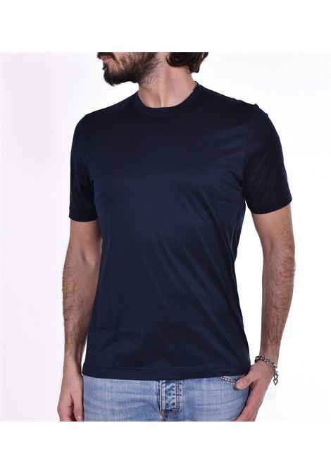 Gran Sasso blue shiny T-shirt GRAN SASSO | T-shirts | 6013374001598