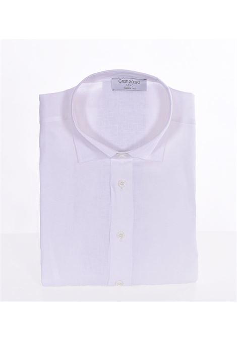 Camicia Gran Sasso lino bianco GRAN SASSO | Camicie | 6112150000001