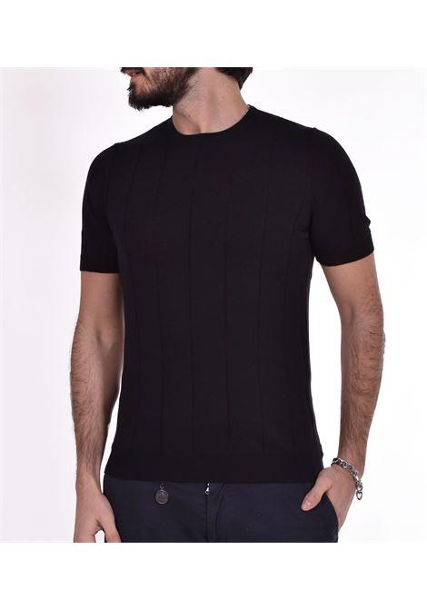 T shirt Gran Sasso paricollo nero GRAN SASSO | T-shirt | 8718620660099