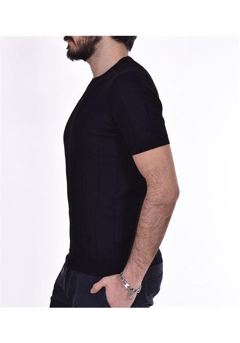 Gran Sasso round neck t shirt in black GRAN SASSO | T-shirts | 8718620660099