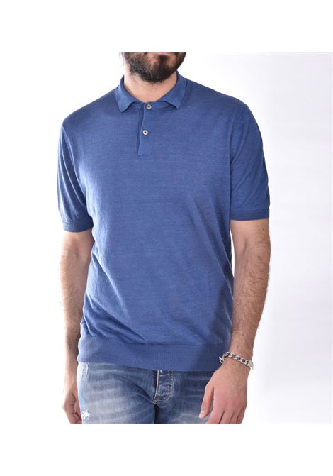 H953 Royal blue linen polo shirt H953 | polo | HS215889